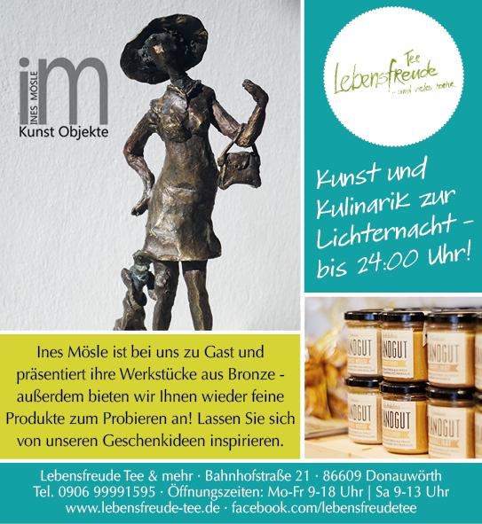 Kunst & Kulinarik zur Lichternacht am 3.11.